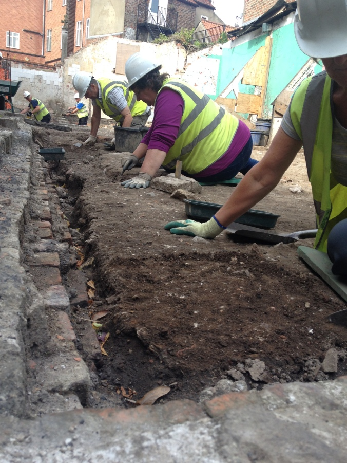 Terry, Anne and Ro begin work on their robber trench. What lies at the base?