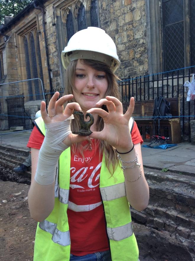 Katie's fantastic medieval pot lid.
