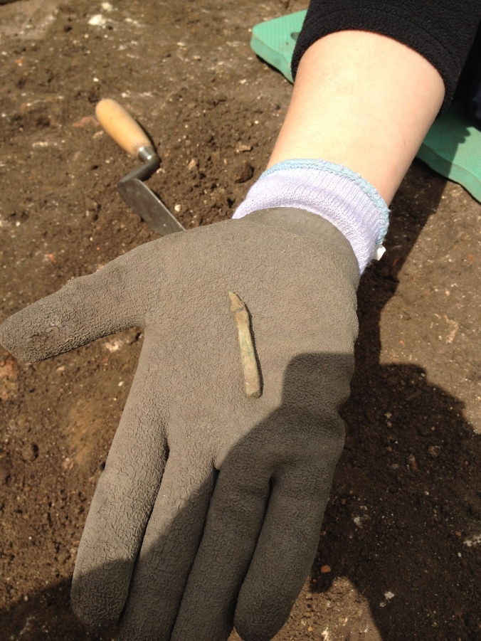 Nicola's mysterious copper alloy object.