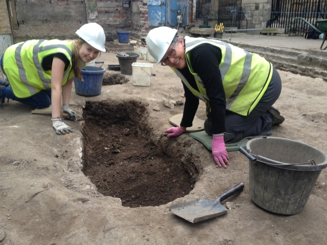 Ellen and Beverly working on their possible inhumation.