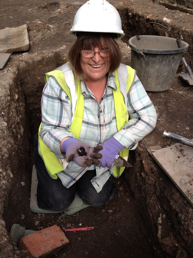 Janice's unusual pot sherd.